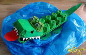 Krokodyl z Amazonki - Prace plastyczne dla dzieci